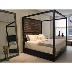 Upholstered Platform Beds King On Canopy Bed From Aguirre Design Inc Modern Iron