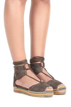 Jeffrey Campbell New Arrivals Everyday // CAPRIA in Khaki Suede