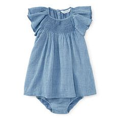 Chambray Dress & Bloomer - Baby Girl Dresses & Rompers - RalphLauren.com
