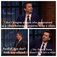 David Tennant in an interview about his character on Jessica Jones.  Just one of the reasons I adore him!