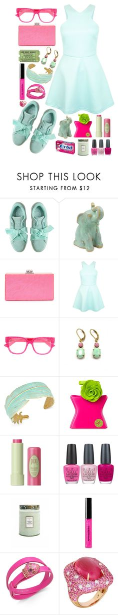 """""""dress&sneakers"""" by issuri ❤ liked on Polyvore featuring NOVICA, Edie Parker, Gucci, Zara Taylor, Lucky Brand, Bond No. 9, Pixi, OPI, Voluspa and Bobbi Brown Cosmetics"""