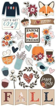 Simple Stories – Forever Fall Collection – Chipboard Stickers: Fall in love with these Chipboard Stickers from Simple Stories. There is one sheet of x stickers from the Forever Fall Collection included that has banner pieces, sentiments Planner Stickers, Journal Stickers, Stickers Kawaii, Phone Stickers, Cute Stickers, Simple Stories, Scrapbooking Stickers, Free Printable Stickers, Free Printables