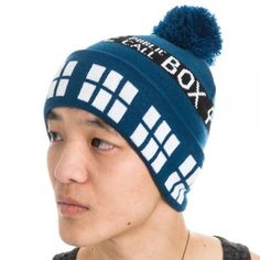b62b0700dc8ee9 Dr. Who Navy Tardis Pom Beanie Winter Hat #Bioworld #Beanie Doctor Who  Halloween