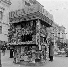 1948 ~ Kiosk at Syntagma square, Athens