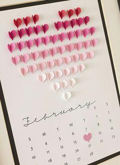 Una ingeniosa idea para hacer tu propio calendario.