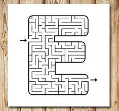 Labyrint: E | Gratis labyrinter att skriva ut själv Printable Mazes, Free Printables, Coloring Pages, Coding, Teacher, Kids, Maze, Lyrics, Malta