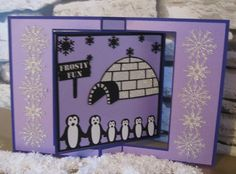 Family of 6 Penguin Cards & Frames Collection...............SVG and MTC Digital Downloads.........Commercial Use Allowed by CraftaholicCreation on Etsy