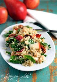 Quinoa Salad with Pears and Pecans in Maple Vinaigrette