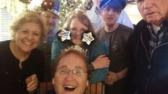My Mom and the selfie stick on New Year's Eve!