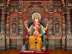 Ganesh Chaturthi Festival 2015 - The beautiful idol of Lalbaug Raja 2015  #ganesh #festival
