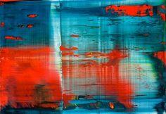 Orange, blues, movement, Richter