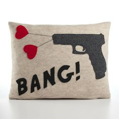 I love these crazy felted pillows by Alexandra Ferguson. Would be great for a den or office, maybe someday when I have a house!