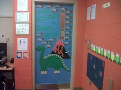This was our awesome door display for our dinosaur theme. The volcano is 3d and & Harry and the Dinosaurs classroom display photo - Photo gallery ... Pezcame.Com