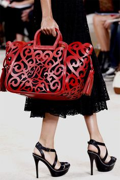 Love this bag!  Ralph Lauren Collection Spring/Summer 2013.