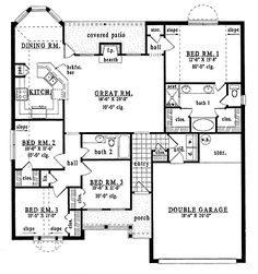 1500 sq ft house convert bedroom 2 into an office take away garage pushing rest of the house up