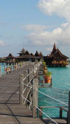 The island of Sipadan, Malaysia