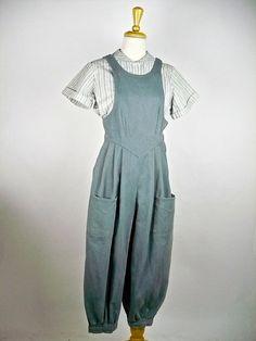 Vintage Edwardian Bib Overalls Uniform by iandrummondvintage