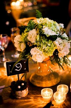 Use centerpieces from our wedding.