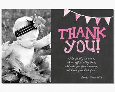 First birthday matching thank you card the big one diy printable first birthday thank you card 1st birthday chalkboard thank you card bookmarktalkfo