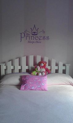 The Princess Sleeps Here  Add a nice touch with this Royal vinyl lettering expression