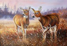 油絵油彩 「動物画」鹿2 朝鮮の芸術画家肉筆画_画像1 Animal Paintings, Kangaroo, Moose Art, Auction, Animals, Baby Bjorn, Animales, Animaux, Pet Pictures