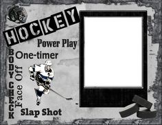 8x6 Hockey Wordart Picture Frame by SapphireCustomPhotos on Etsy, $8.00