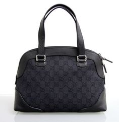 c8ae6373feb The Gucci Gg Canvas Leather Tote Top Handle Handbag 272378 Black Canvas Leather  Shoulder Bag is a top 10 member favorite on Tradesy.