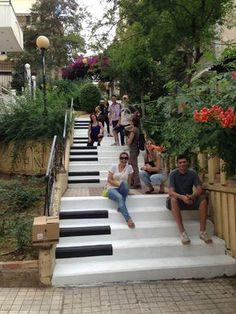 Athens. LOVE the steps, #solebike, #Athens, #e-bike tours