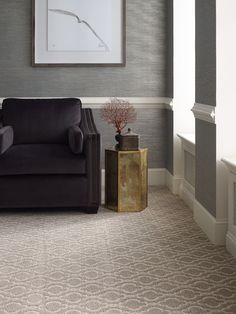 Our Divine Retreat On Trend Carpet in Pashmina has a beautiful pattern design perfect for classic living rooms! This cut loop patterned carpet is made to withstand the daily foot traffic. It retails starting at $11.39 SQ FT.