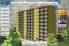 Interactive application dedicated to the theme of revitalizing prefab houses. In real time visualizes proposal of a new aesthetic solution of the house and its elements in any desired color. Aesthetic Solutions, Prefab Houses, Great Apps, 3d Visualization, Proposal, Architects, Multi Story Building, Color, Prefab Cottages