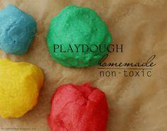 DIY: Non-Toxic Playdough