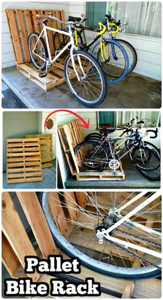 Easy Pallet Bike Rack - 150 Best DIY Pallet Projects and Pallet Furniture Crafts - Page 71 of 75 - DIY & Crafts