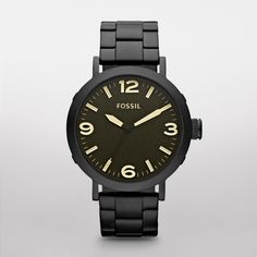 JR1393 - Clyde Stainless Steel Watch - Black