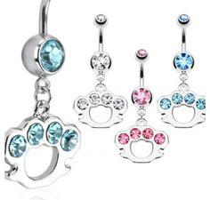 #brass #knuckles #Stainless #steel #navel #belly #ring #gems #bodykraze