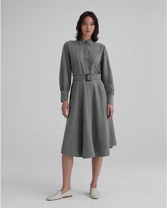 Curved Hem Shirtdress Club Monaco, Modern Outfits, Stylish Outfits, Jumpsuit Dress, Shirt Dress, Metallic Pleated Skirt, Tailored Coat, Cashmere Turtleneck, Dress Outfits