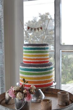 Rainbow wedding cake ❤