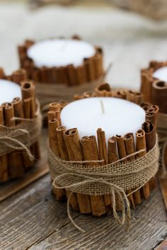 The Easiest Holiday DIY: Cinnamon Stick Candles - Front Roe by Louise Roe - Tag & Tibby / DIY Home Decor - The Easiest Holiday DIY: Cinnamon Stick Candles - Front Roe by Louise Roe Louise Roe Cinnamon Stick Candles Centerpiece For Christmas - Natural Christmas, Classy Christmas, Christmas Holidays, Christmas Wreaths, Christmas Ideas, Xmas, Handmade Christmas Decorations, Easy Christmas Crafts, Homemade Christmas