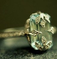 Aquamarine Ring Boho Chic Bohemian - <3 Rhea Khan