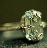Aquamarine Ring Boho Chic Bohemian - <3 Rhea Khan