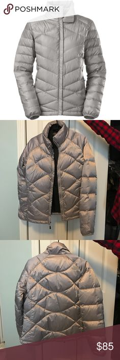 The North Face Silver Puffer Jacket Cute puffer jacket for the winter. Great condition, only worn once. The North Face Jackets & Coats Puffers