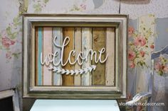 Start at Home Decor's Reclaimed Wood Welcome Sign and Market Recap