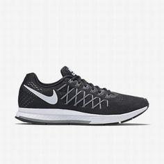san francisco e311d 3bca4 Nike Men s Black Dark Grey Pure Platinum White Air Zoom Pegasus 32 Running  Shoe