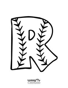 Baseball Alphabet Letter R - Woo! Kids Activitie Alphabet Letter R - Woo! Baseball Letters, Baseball Crafts, Baseball Party, Baseball Signs, Baseball Mom, Letter R Crafts, Alphabet Crafts, Alphabet Letters To Print, Baseball Coloring Pages
