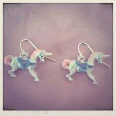 unicorn dangle earrings.