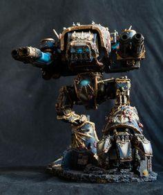Night Lords affiliated Warhound Titan