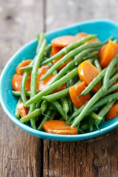 A true Thanksgiving show-stopper: Sauteed Green Beans with Persimmons