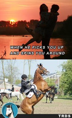 Not really fun on a horse
