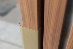 Marble Detail, Custom Brushed Brass Drawer Pull - Custom Credenza Joinery Details, Finger Pull, Brass Drawer Pulls, Shutter, Wardrobes, Credenza, Drawers, Marble, New Homes