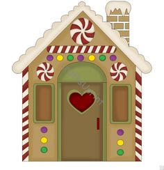 Image detail for -... :: Clip Art Singles :: Christmas :: c44 - Gingerbread House