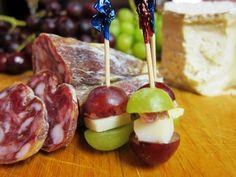 Boccalone salame pepato, goat cheese and grape amuse-bouche